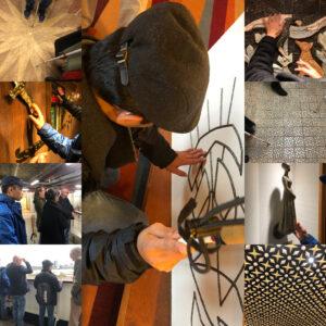 In een collage van foto's zijn verschillende kunstwerken van het schip in beeld gebracht