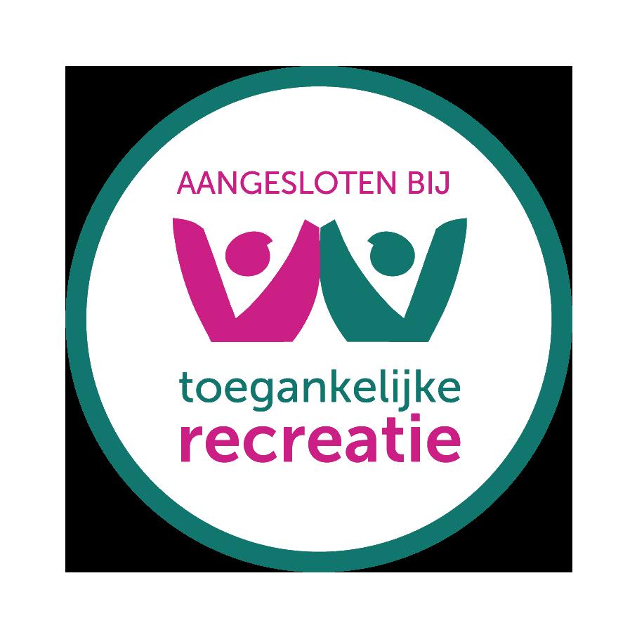 Het logo van toegankelijke recreatie