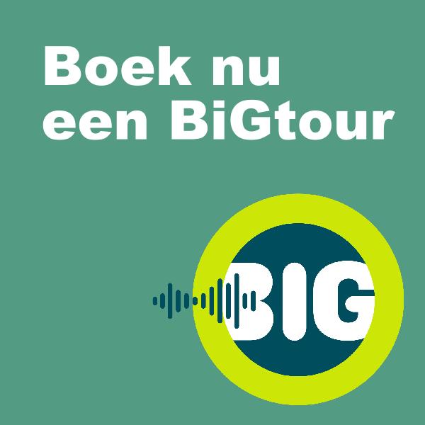 een button met de tekst: Boek nu een BiG tour, en daarbij het beeldmerk van BiG