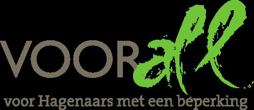 Logo Voorall, voor hagenaars met een beperking